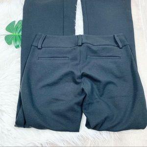 Alice & Olivia Black Flare Stretch Pants  D1206